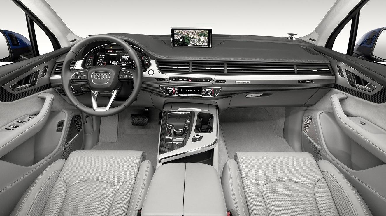 Pese a algunas oportunidades mejoras en el equipamiento, la Audi Q7 55 TFSI Select 2019 tiene una cabina excepcional