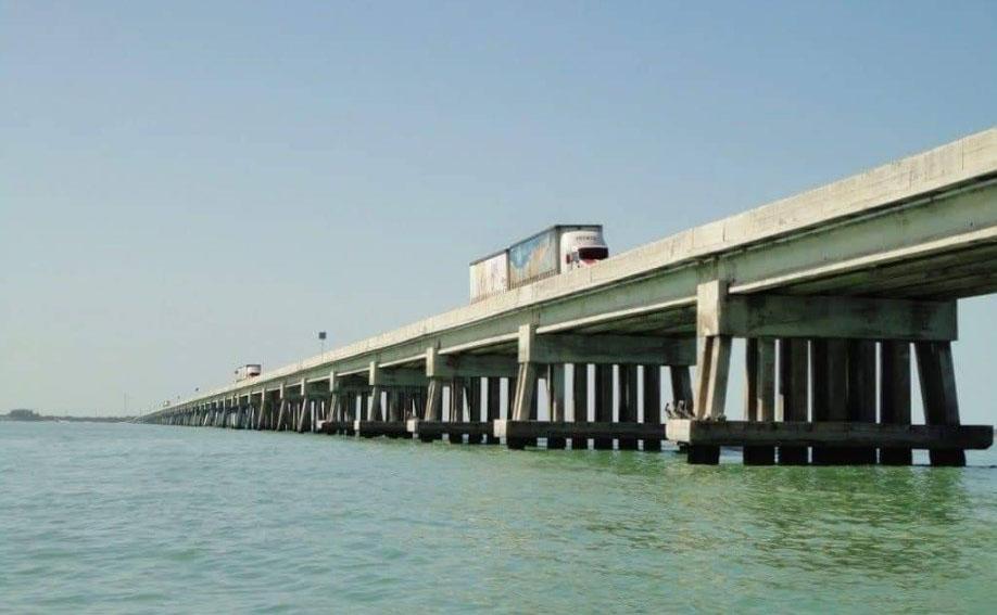 El Puente Isla Aguada-Puerto Real, es el segundo puente más largo del Estado de Campeche