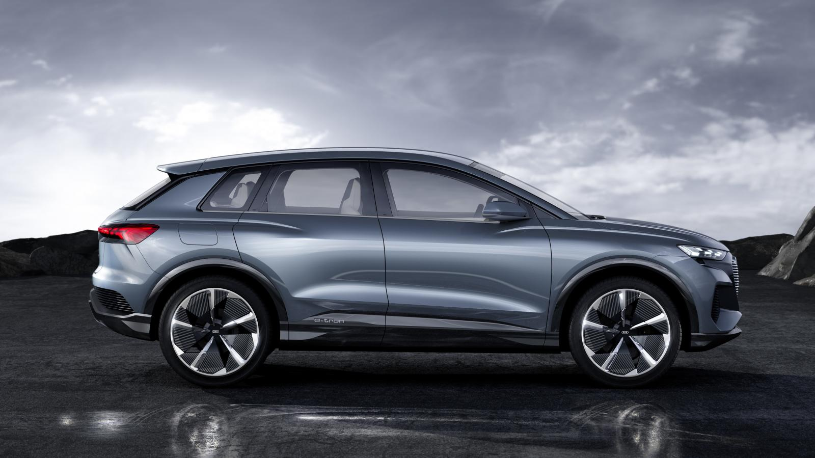 Audi Q4 e-Tron lateral