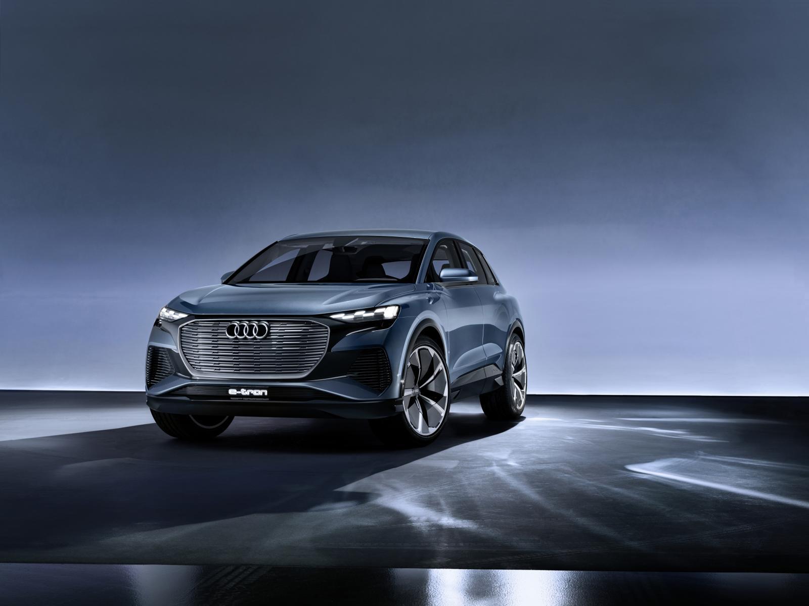Audi Q4 e-Tron frontal