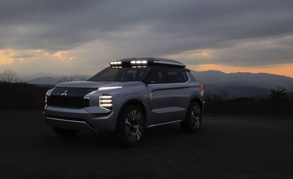 La estética de la Mitsubishi Engelberg Tourer Concept sobresale por su apariencia aventurera y resistente