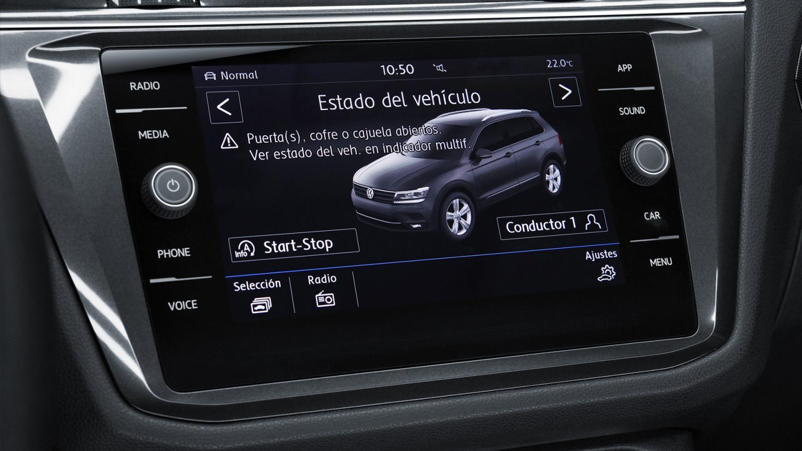 Algunas de las tecnologías de la Volkswagen Tiguan Highline 2019 presentan un comportamiento algo lento e inestable