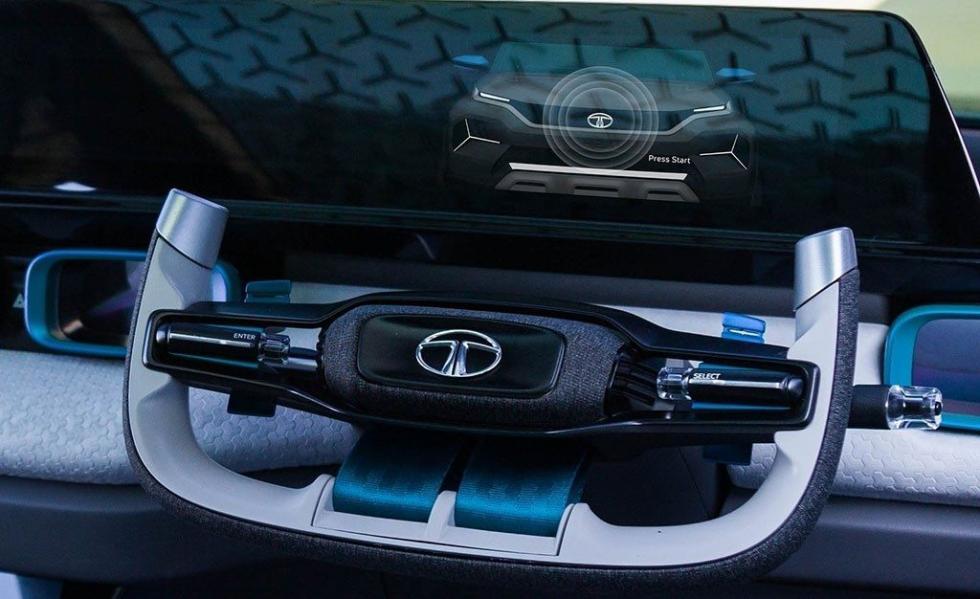 El volante de la Tata H2X está inspirado en la aeronáutica