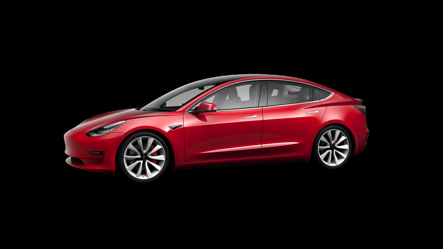 Tesla Model 3 tope de gama rojo