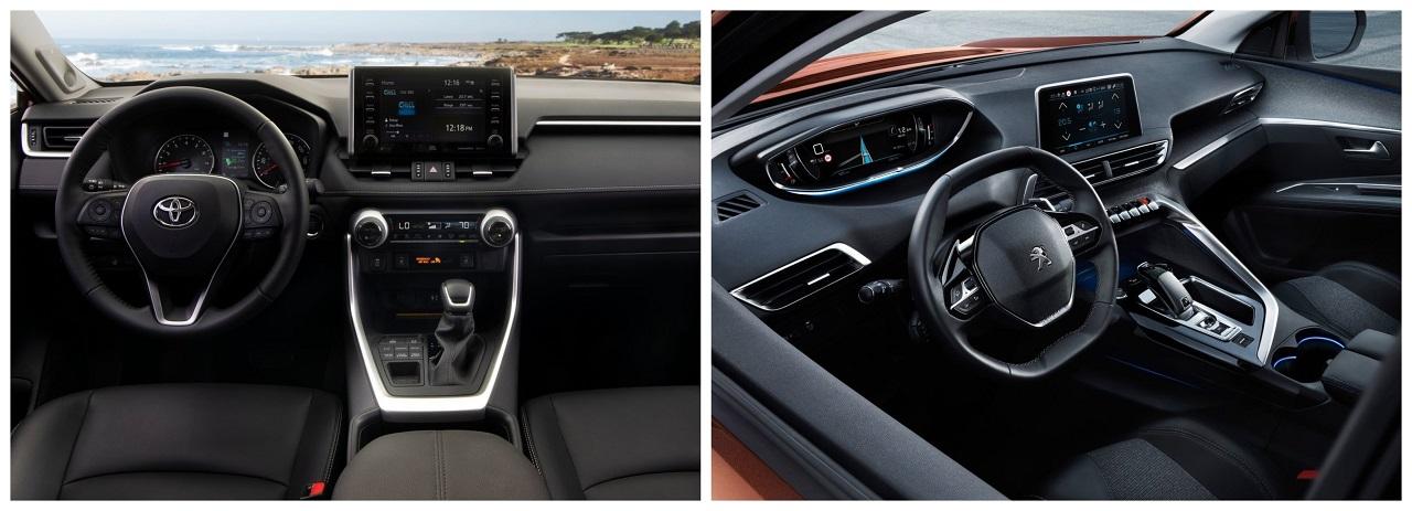 En comparativa: Peugeot 3008 Allure 2019 vs. Toyota RAV4 XLE 2019