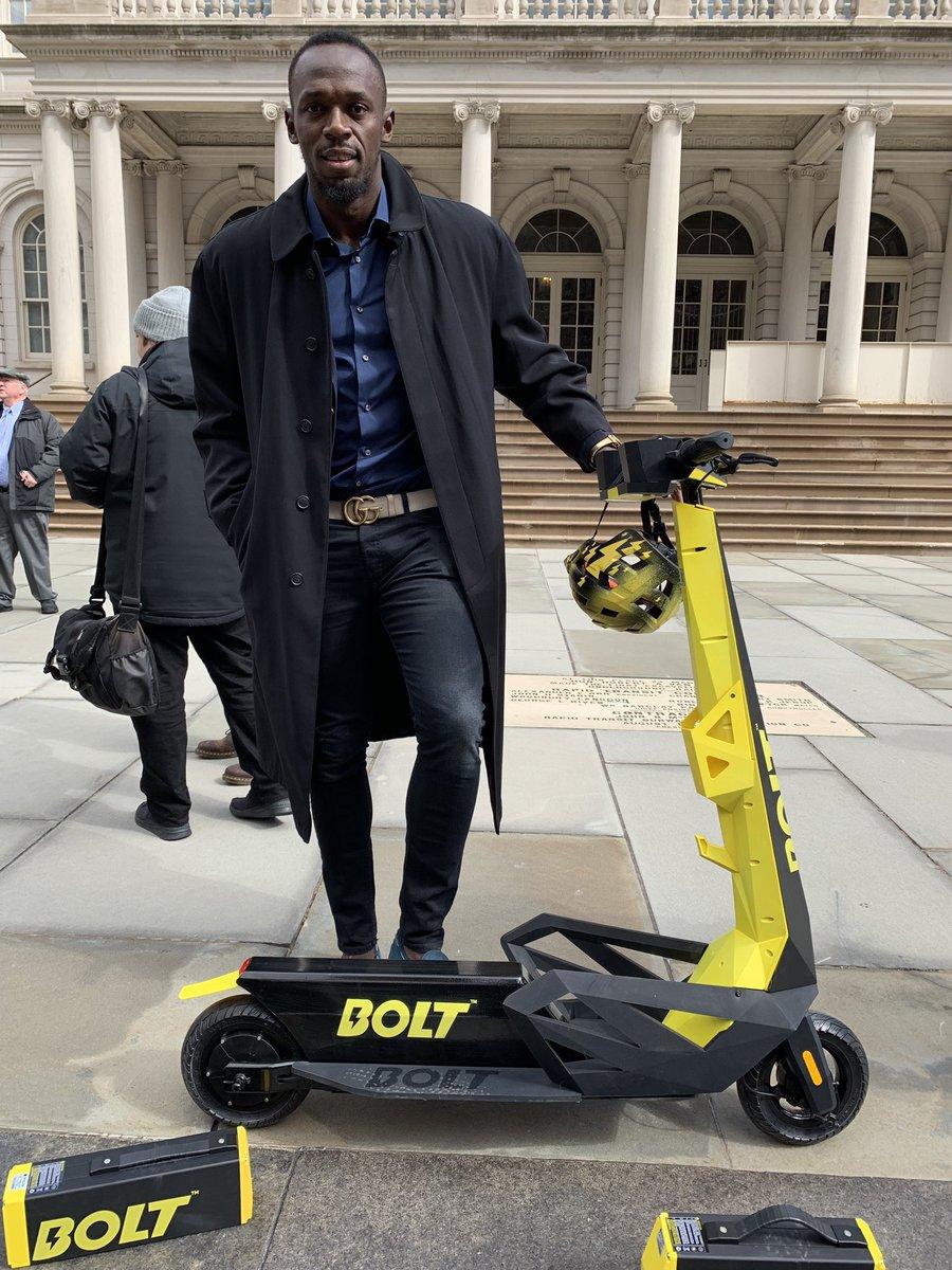Usain Bolt apuesta por el transporte urbano con Bolt Mobility