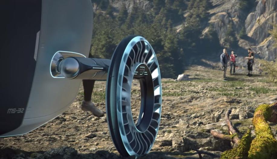 Los Goodyear Aero podría rodar por terrenos complicados