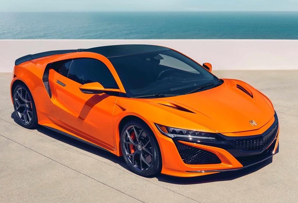 Acura NSX color naranja