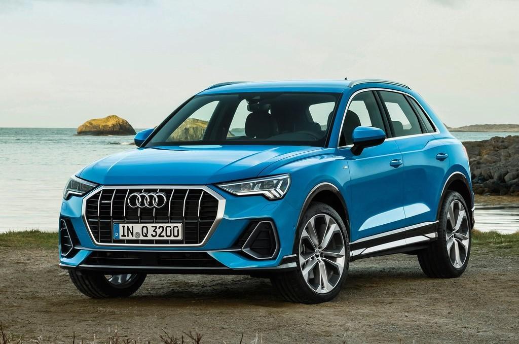 Audi de color azul