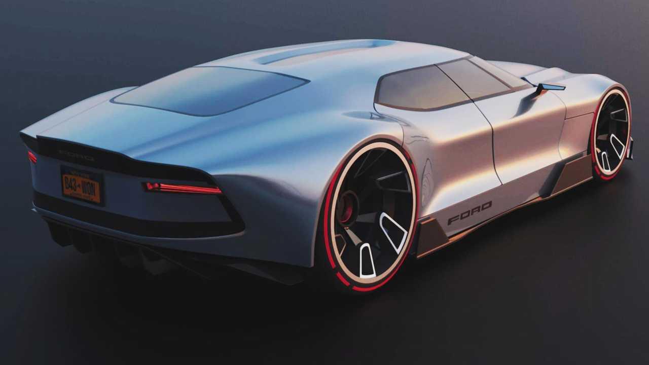 La parte posterior del Ford Crown Victoria Render está inspirada en la del Shelby Daytona