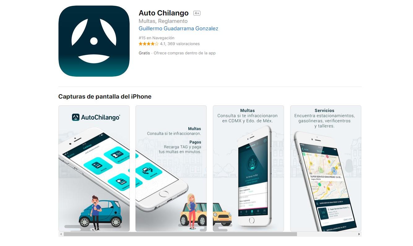 Auto Chilango aplicación