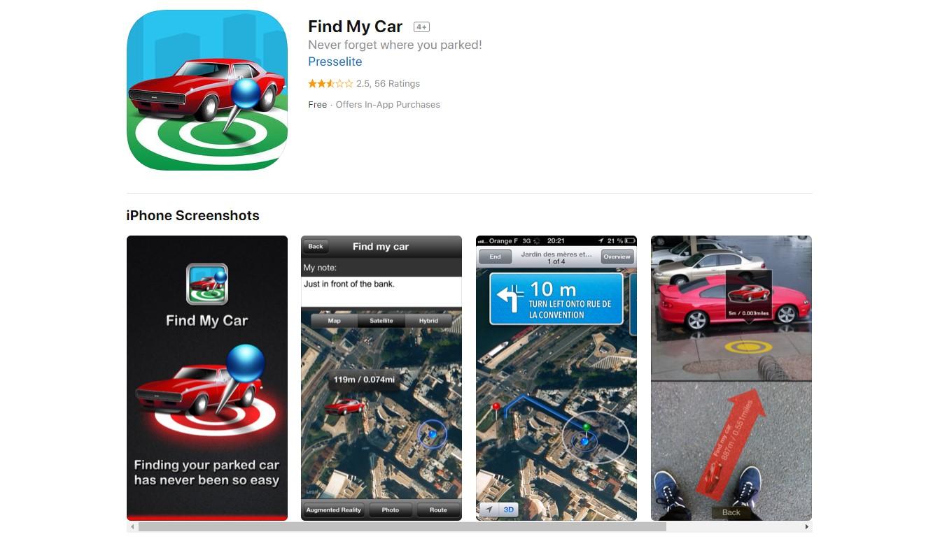 Find my Car aplicación