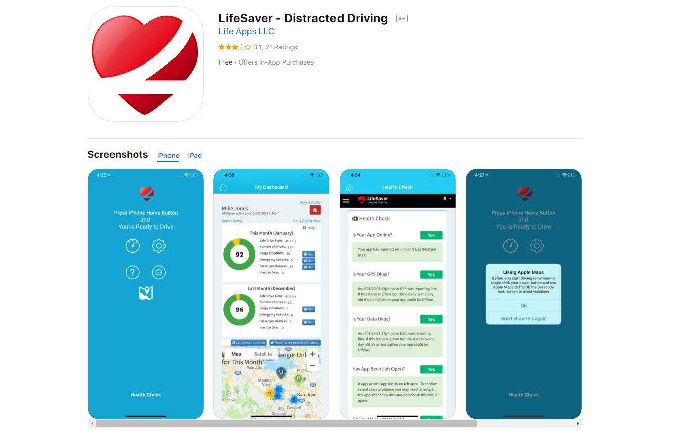 LifeSaver aplicación