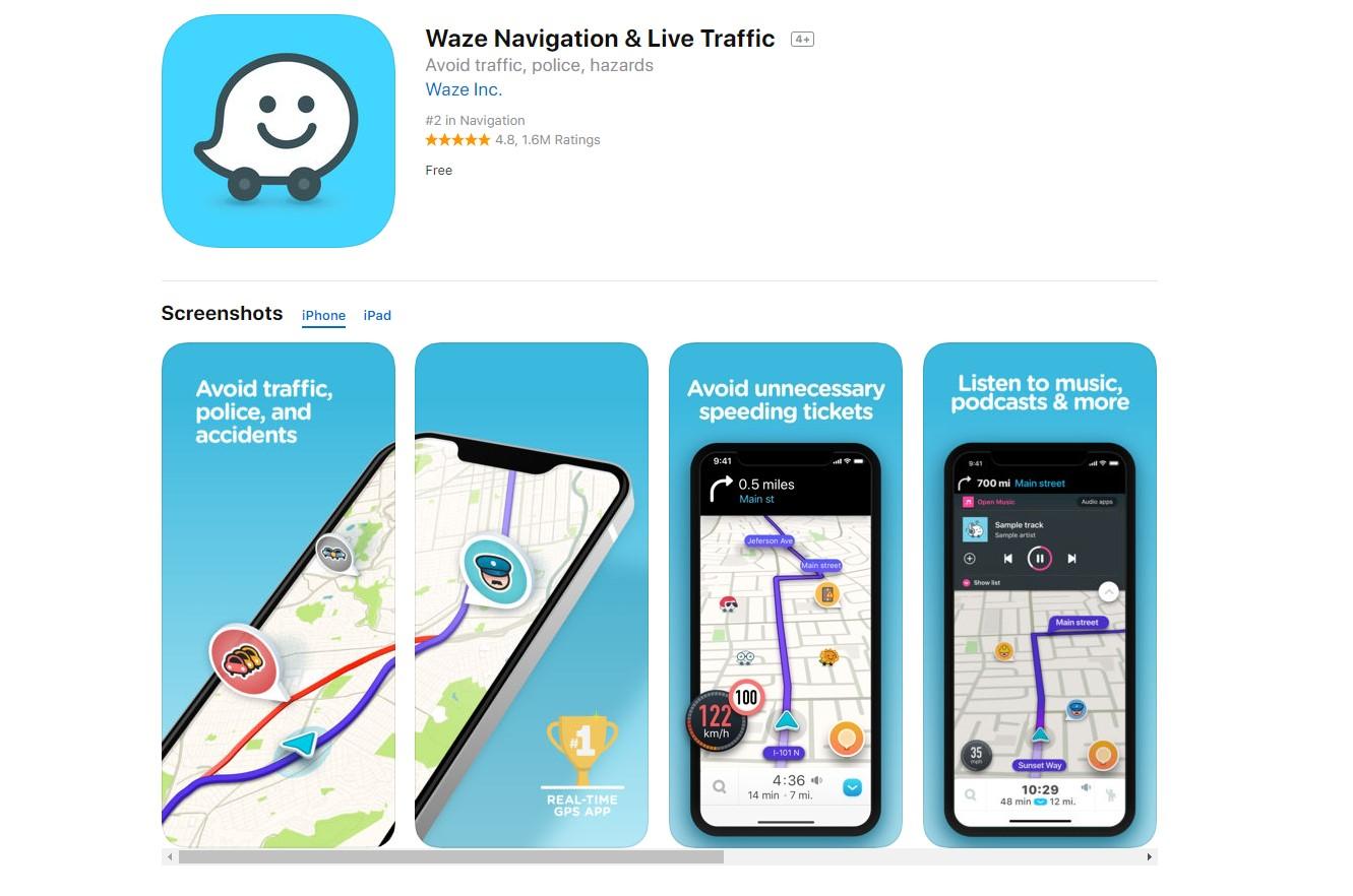 Waze aplicación