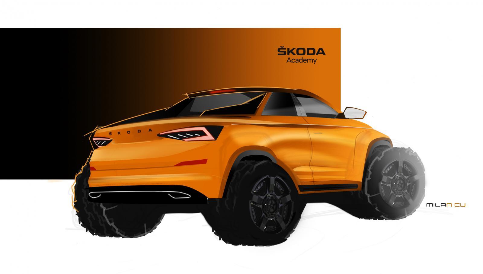 La Skoda Kodiaq se transforma en una enorme pick-up