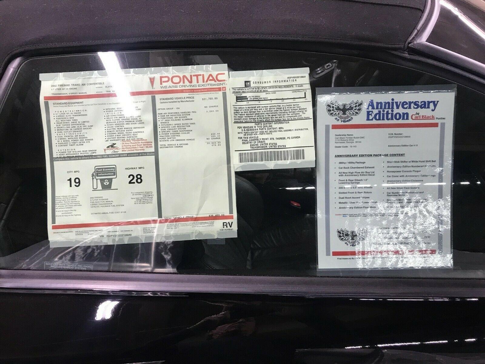 Pontiac Trans-Am 2002