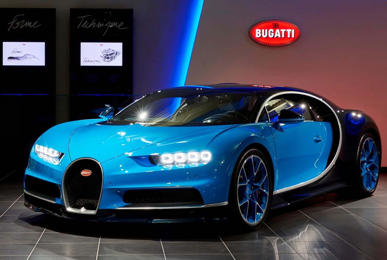 El Bugatti Chiron tiene un costo cercano a los 54,000,000 de pesos