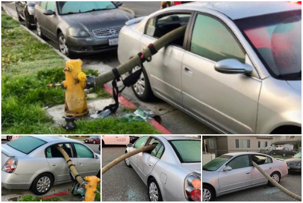 Imagenes posteadas por el departamento de Bomberos y Rescates de Anaheim