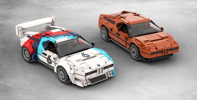 Las réplicas del BMW M1 hechas con bloques de Lego