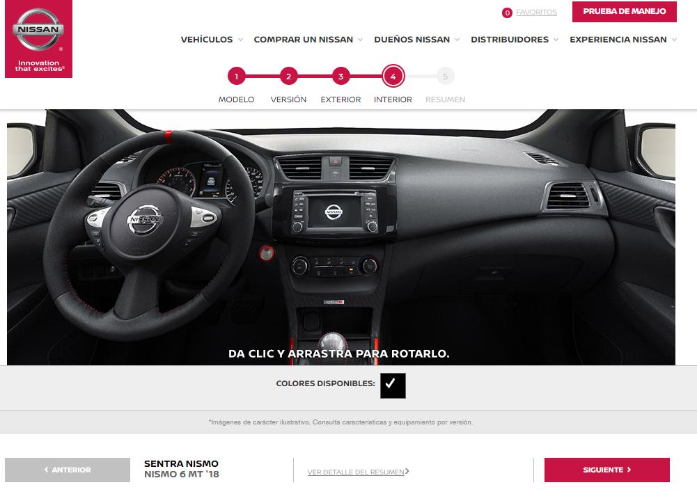 Configurador Nissan