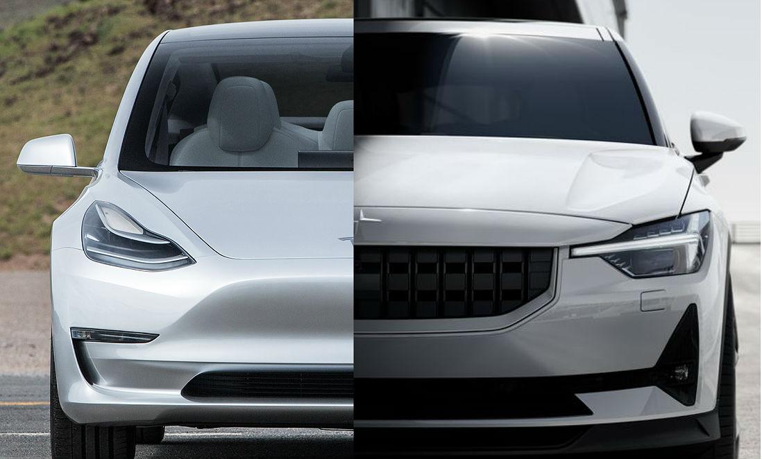 Tesla Model 3 & Polestar 2