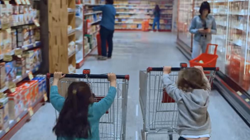 Carrera de carritos supermercado
