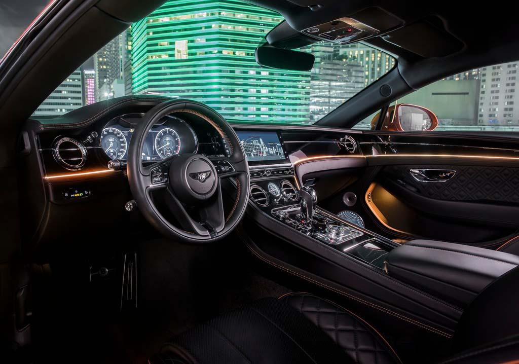 El interior del Bentley Continental GT está lleno de detalles