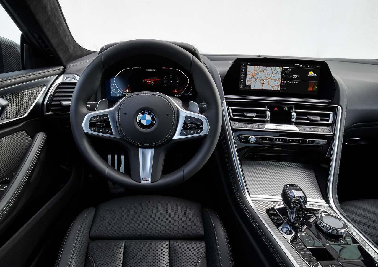 El interior del BMW M850i presenta acabados de mucha calidad