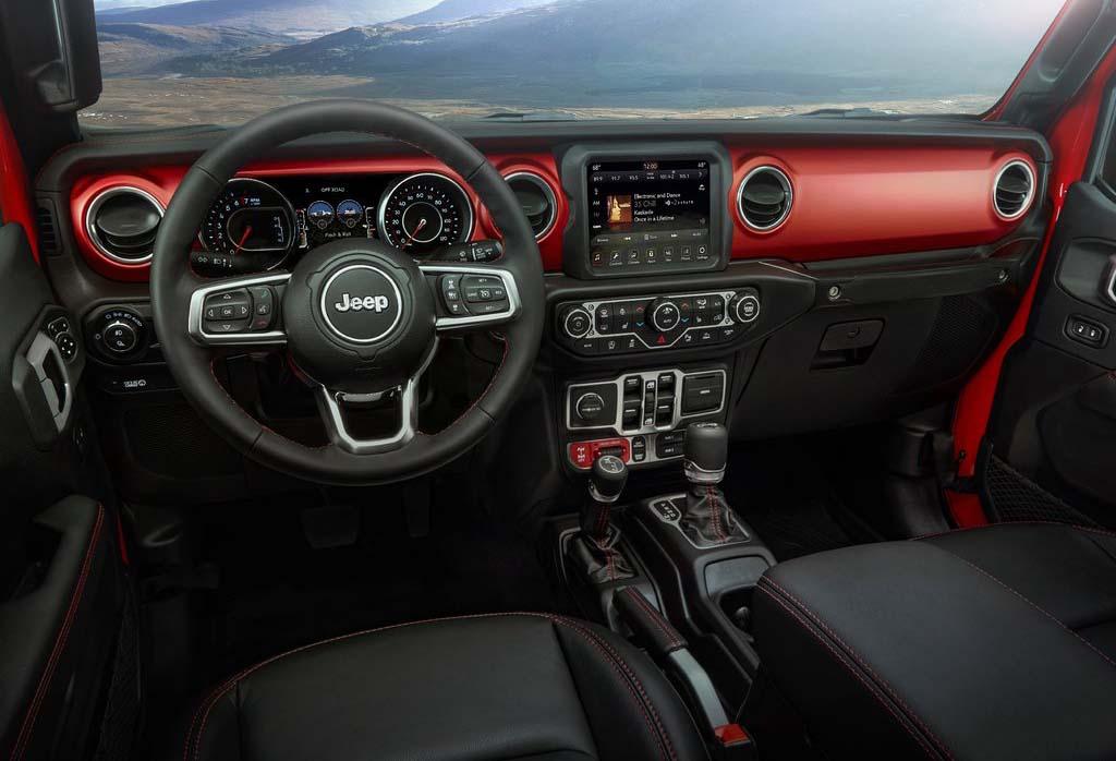 El habitáculo de la Jeep Gladiator está inspirado en la historia de la marca
