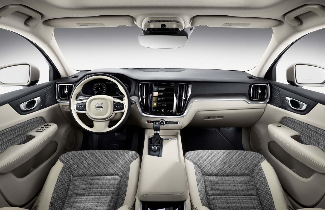 El interior de la Volvo V60 es una perfecta muestra de diseño escandinavo