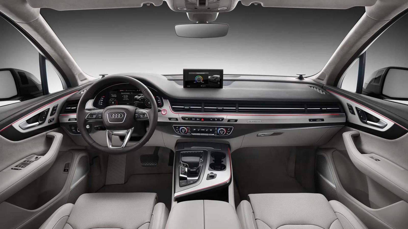 Los interiores de la Audi Q7 2019 precio en México lucen muy elegantes