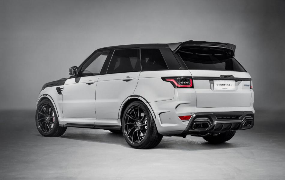 La Range Rover Sport SVR Overfinch tiene detalles en fibra de carbono al por mayor
