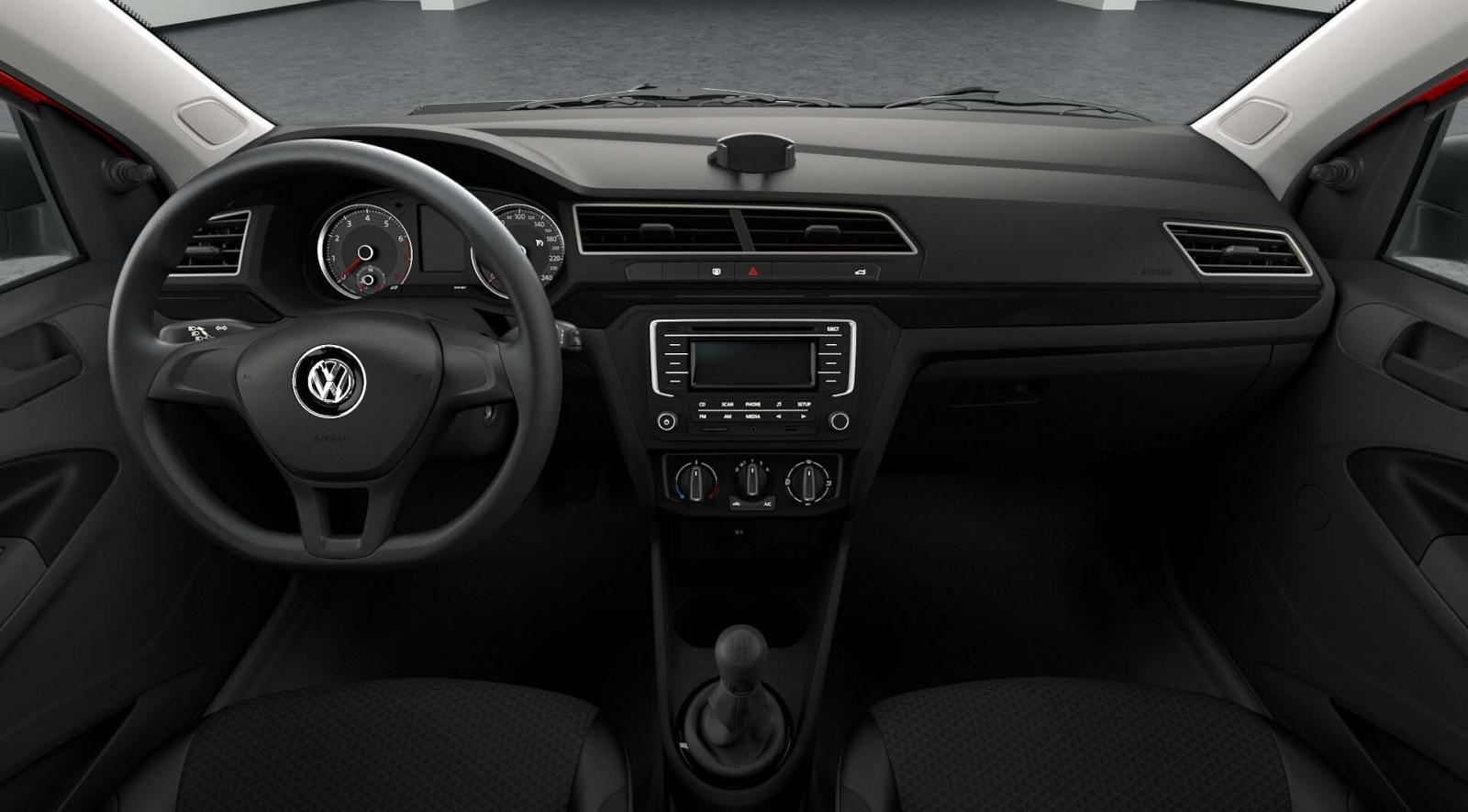 En el interior del Volkswagen Gol 2019 podemos observar que se mantiene con la misma configuración