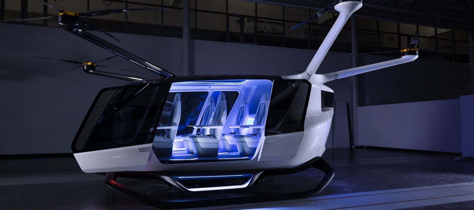 El diseño del Skai Flying Car es tipo helicóptero