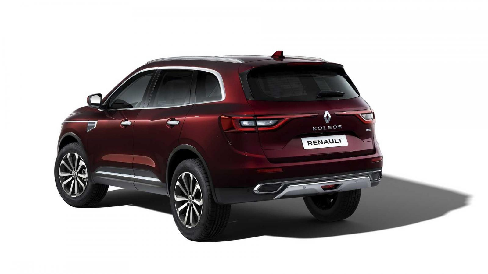 La parte trasera de la Renault Koleos 2020 tiene modificaciones menores como una luz de freno más grande