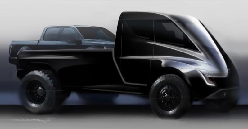 Tesla presentó imágenes de cómo sería su nueva pick-up