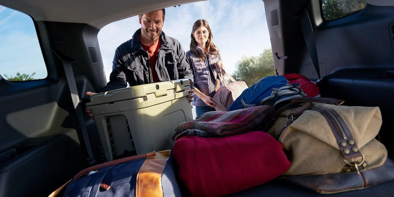 La Chevrolet Traverse LT 2019 tiene una cajuela muy amplia e ideal para viajes en familia