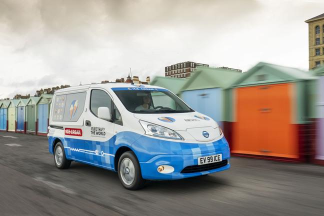 Nissan presenta el camión de helados del futuro