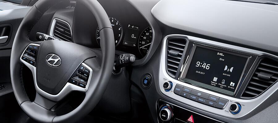 El Hyundai Accent 2020 precio tiene una cabina funcional y con todo lo necesario para un viaje confortable