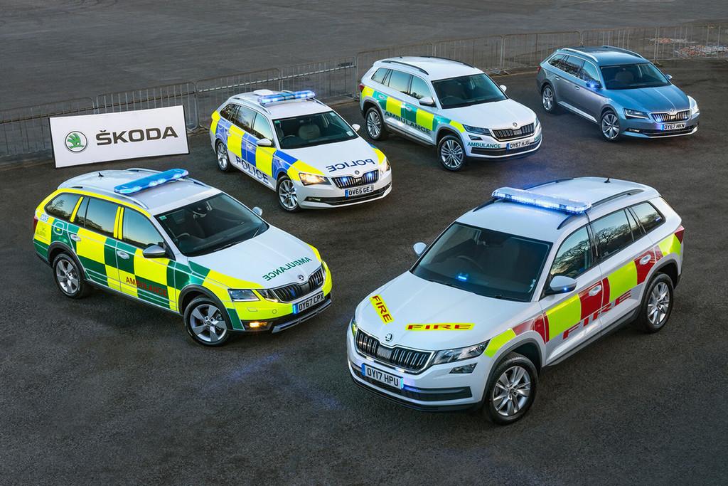 Skoda policía británica