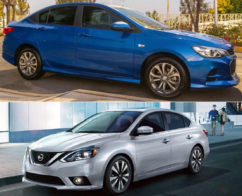 Comparativa: Chevrolet Cavalier LS 2019 vs. Nissan Sentra Sense 2019