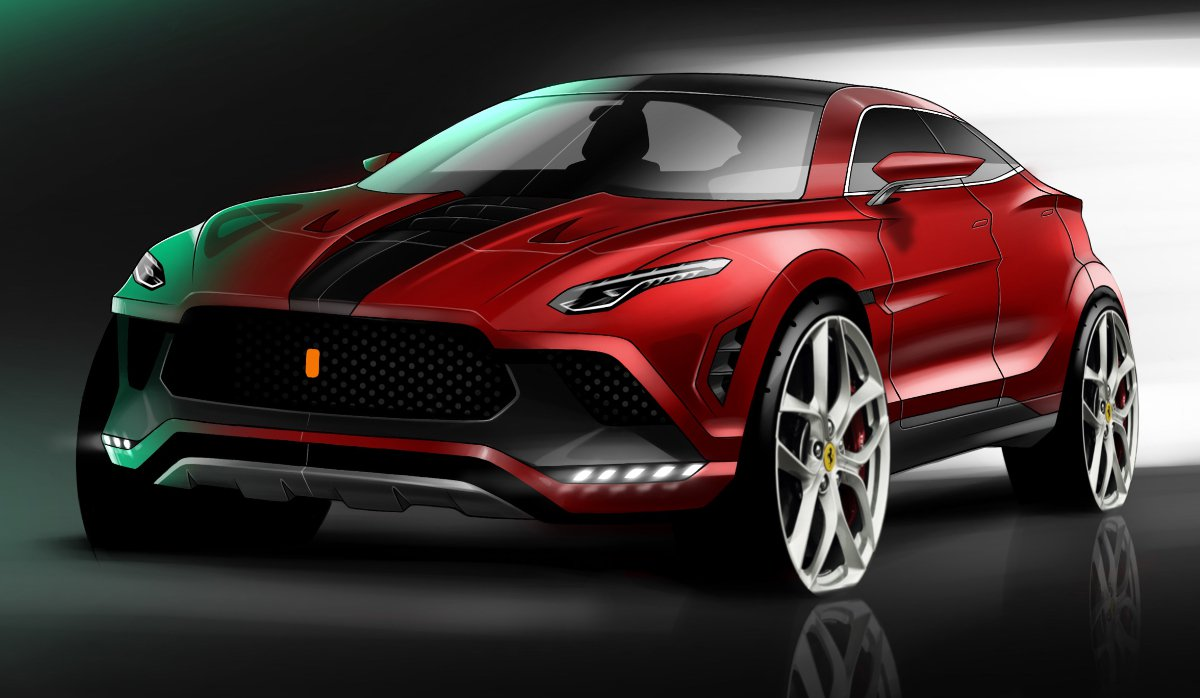 Ferrari Purosangre render