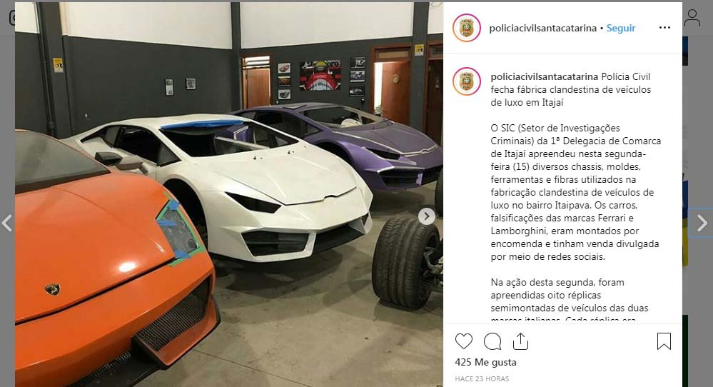 Desmantelan fábrica clandestina de autos de lujo