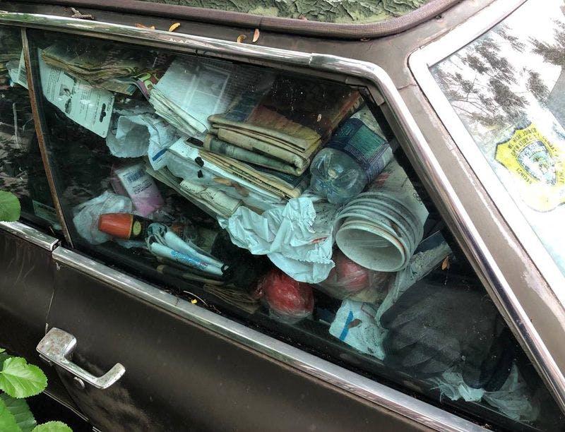 Cadillac abandonado