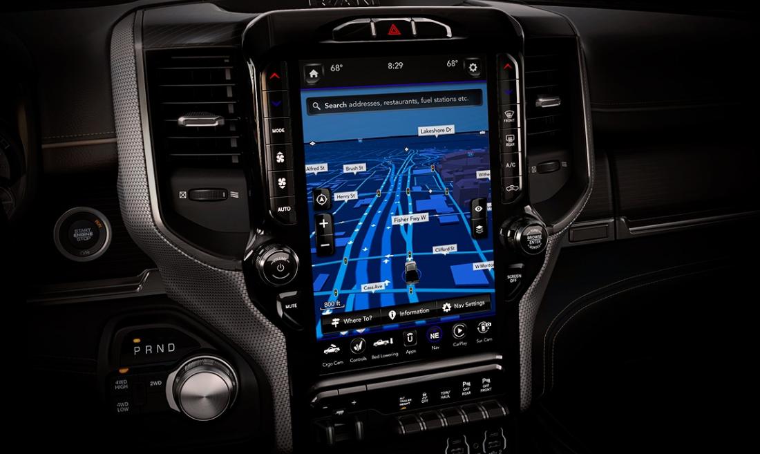 La Ram 2500 HD Limited 2019 lleva un equipamiento tecnológico completo e intuitivo