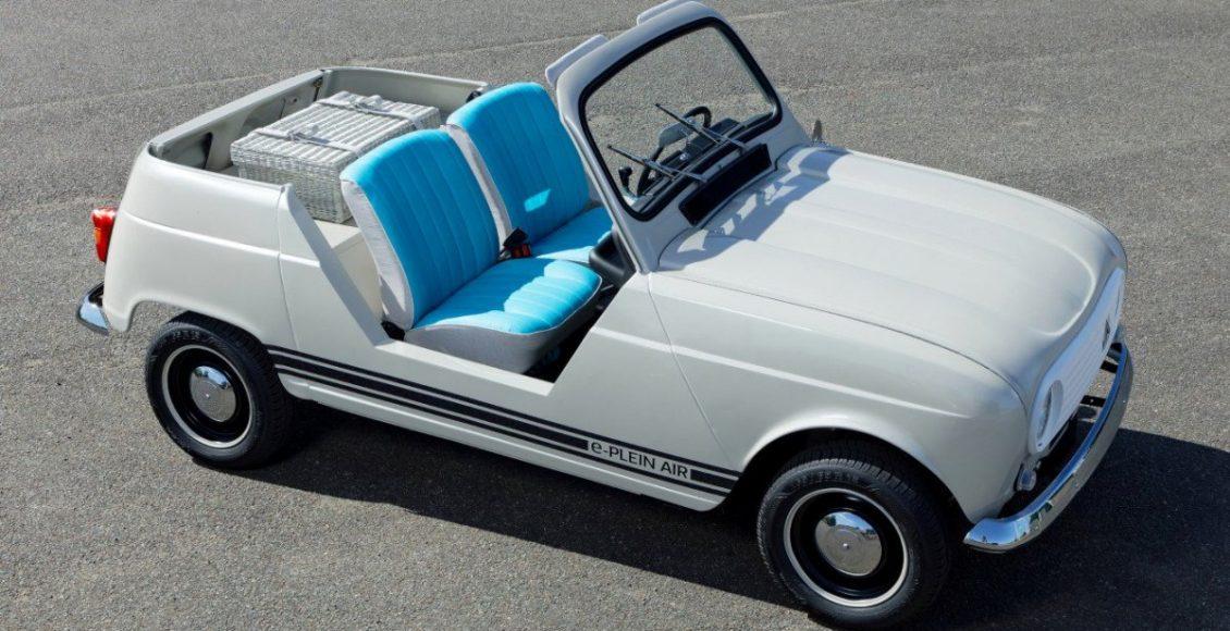 El Renault e-Plein Air conserva elementos con el mismo diseño que el modelo original