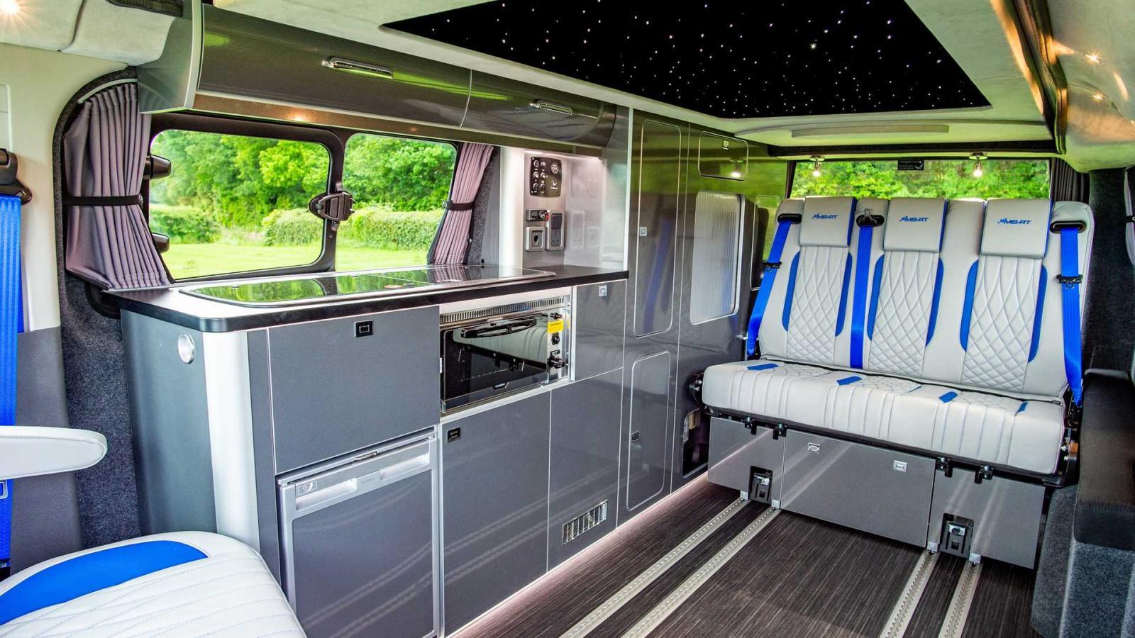 La Ford Transit Custom Camper logra una gran gestión del espacio