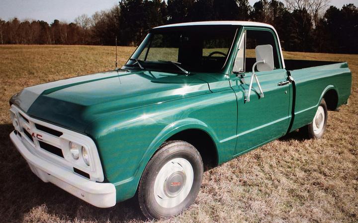 La GMC 1500 Shortbed 1967 fue comprada con la intención de usarse en uno de sus famosos ranchos