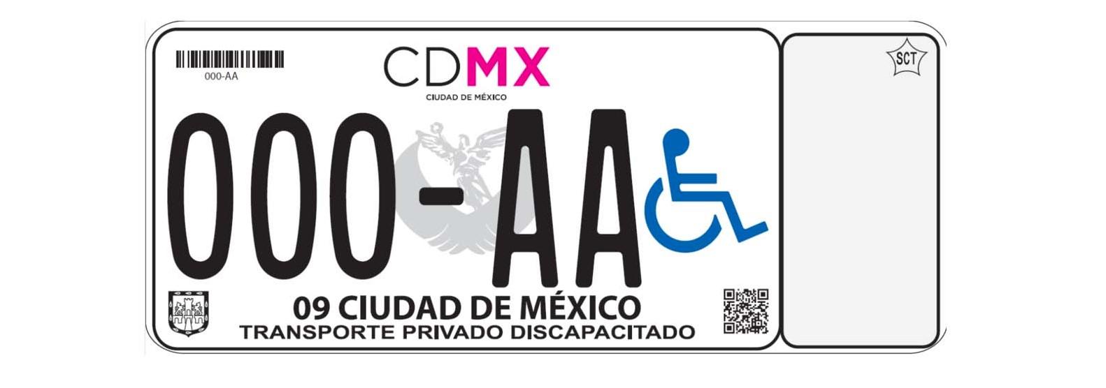 Placas para personas con discapacidad