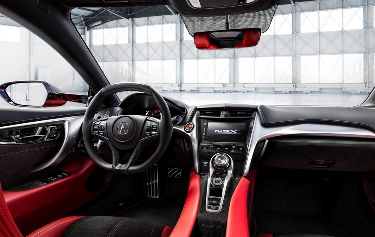 La cabina del Acura NSX Exclusive tiene un considerable margen de mejora